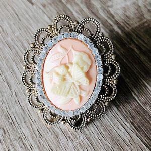 Jewelry - 💍🌟Butterfly & gemstone brooch ring 🦋💍